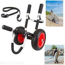 Stand Up Paddle Board Carrier Rack Dolly Cart Durable Aluminum Surf Trolley Walk