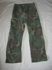 Vintage 60s Vietnam War U.S. Army Camo Rip Stop Poplin Trousers Uniform Pants 29