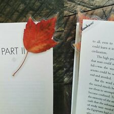 Bookmark Handmade Real Pressed Maple Leaf Tree Fall Autumn Leaves Page Corner