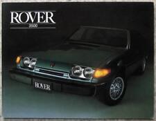 ROVER 3500 V8 USA SPECIFICATION Car Sales Brochure Feb 1980