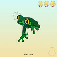 Green Frog Disney Embroidered Iron On Sew On Patch Badge For Clothes Bags etc
