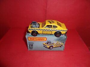 U.S.Issue Matchbox 1-75 #72-Maxi Taxi,Nr Mint In Ex Orig U.S. Pictue Box,1982.