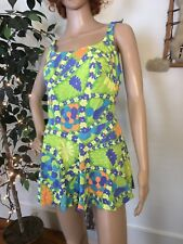 0b355cacd48b8 Vintage 60s Catalina Groovy Psychedelic RARE One Piece Swim Suit Large