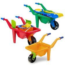 Kids Plastic Wheelbarrow Beach Bucket Play Toy Set Sandbox Summer Outdoor Garden