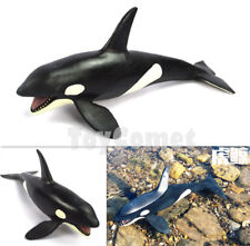 21cm Killer Whale Orca Realistic Ocean Sea Animal Figure Solid Plastic Toy Model