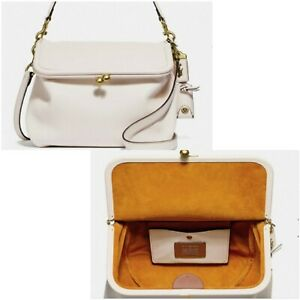 💞NWT WHITE  EXTRA LARGE COACH RIDER SHOULDER BAG MSRP $595💞