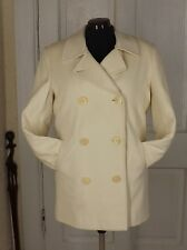 LL Bean Coat Select Wool Cashmere Thinsulate Cream White Jacket Winter Womens 10