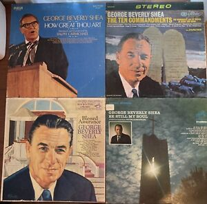 Lot of 4 George Beverly Shea Vinyl Lp Record Gospel