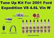 Tune Up Kit For 2001 Ford Expedition V8 Spark Plug Air Oil Fuel filter belt, PCV