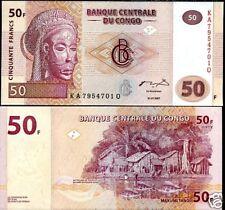 CONGO AFRIQUE Billet 50 FRANCS 2007 TSHOKWE NEUF UNC