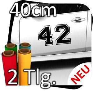 2x 40cm Nummer frei wählbar Startnummer Rallye Autoaufkleber Startnummern No.21