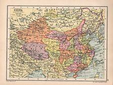 Mapa de 1934 ~ ~ China Tíbet Mongolia Cantón