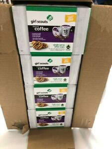 Girl Scout Caramel Coconut Flavored Coffee Keurig K-Cup Brewers 18ct Pak of 4