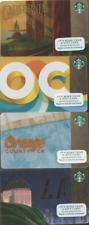 SET OF 4 Starbucks 2014 & 15 CARD CALIFORNIA ORANGE COUNTY OC LOS ANGELES 4 LOT