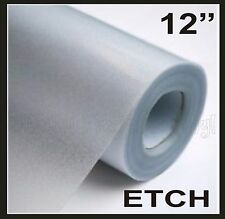 "ETCH Glass Window Film 24"" x 12 Craft Window GLASS Decals USE ANY CUTTER"