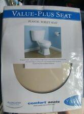 Value-Plus Standard Elongated Plastic Toilet Seat, Bone