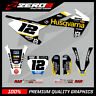 Custom MX Graphics Kit:  HUSQVARNA TC 50 TC 65 2017 - 2020 SE1 BLACK