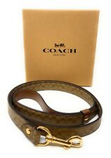 Coach  Large Leather Pet Dog Leather Leash Crossgrain