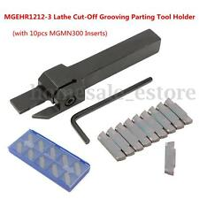 10pcs MGMN300 Inserts + MGEHR1212-3 Lathe Cut-Off Grooving Parting Tool Holder