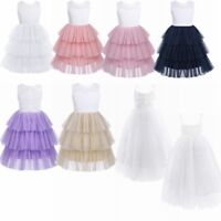 Kid Princess Baby Flower Girl Dress Lace Backless Party Gown Bridesmaid Dress