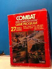 ATARI 2600 VINTAGE 1978 COMBAT  VIDEO GAME W Box Instructions 27 Games