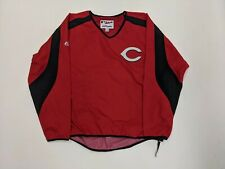 Majestic Authentic Collection CINCINNATI REDS Baseball Warm Up Jacket Size L MLB
