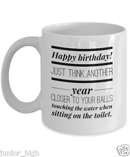 Funny Birthday Gifts for Men - Coffee Mug - Silly Gag Gifts -Unique Adult Humor