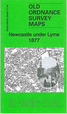 OLD ORDNANCE SURVEY MAP NEWCASTLE UNDER LYME 1877