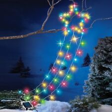 Solar Powered Color-Changing Shooting Christmas Star Yard Decoration