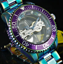 Invicta 47mm Pro Diver Skeletonized GHOST BRIDGE Mechanical IRIDESCENT SS Watch
