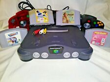 Nintendo 64 N64 Video Game Console System 2 Controllers Cords Bundle Lot