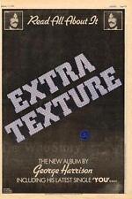 George Harrison Extra Texture UK LP advert 1975