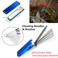 Carburetor Cleaning Tool Needles Brushes Set Functional For Motorcycle Carb Jet
