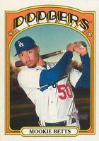 Mookie Betts 2021 MLB Topps Heritage Baseball Base Card #167 Los Angeles Dodgers