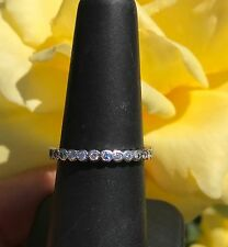 Platinum Diamond Semi Eternity Band Ring Anniversary Stacker