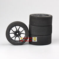 Set 4Pcs Foam Tires&12mm Hex Wheel For HSP HPI RC 1/10 on-road Racing Car 23003