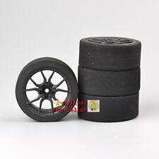 Set 4Pcs Foam Tires&12mm Hex Wheel For HSP HPI RC 1/10 on-road Racing Car 23003