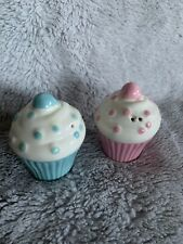 Iced Cupcake / Muffin Salt & Pepper Shakers / Condiment Set