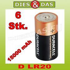 6 Stk. Duracell D OEM Batterie Mono LR20 MN1300 Bulk lose 6x