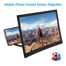 """12"""" 3d HD Mobile Phone Video Curved Screen Amplifier Magnifier Stand Bracket"""