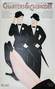 "SEYMOUR CHWAST Charters & Caldicott 68.5"" x 47.5"" Lithograph 1986 Vintage Black"