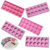 1Pc Lollipop Silicone Mould Candy Chocolate Fondant Baking Molds Cake Decorate