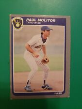 1985 Fleer Paul Molitor Card #588..Milwaukee Brewers