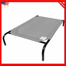 Large Dog Bed Coolaroo Elevated Pet Cot Indoor Raised Outdoor Steel Frame Grey
