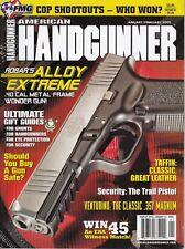 American Handgunner Magazine January/February 2009 - 357 Magnum , Gun Safe