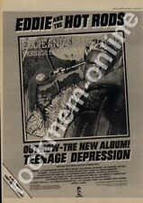 Eddie & The Hot Rods Teenage Depression Leicester Poly LP Tour advert 1976