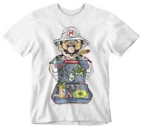 Mario T-Shirt  Smoke Gamer Retro Player One Plumber Stoner Weed Festival Rave