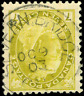 Canada #81 used F 1902 Queen Victoria 7c olive yellow Numeral SON CDS CV$15.00+