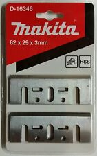 GENUINE MAKITA D-16346 82mm HIGH SPEED STEEL PLANER BLADES