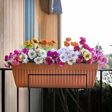 Flower Pot Holder Rack Balcony Box Porch Patio Deck Railing Fence Trellis Garden